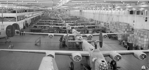 Сборочная линия на заводе Willow Run в 1942 году