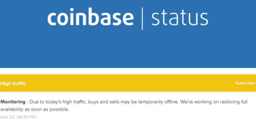 Coinbase приостановила операции с криптовалютами
