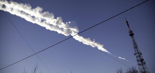 Россия атакована метеоритом